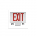 5W Exit and Emergency Lighting Combo, Red Text, White