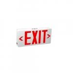 2W LED Exit Light w/ Battery Backup, Slim, White