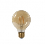 5W LED G25 Filament Bulb, Dimmable, 2500K, 500 Lumens