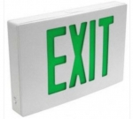 LED Emergency Exit Sign, White Housing w/Green Letters