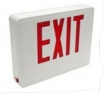 LED Double Face Emergency Exit Sign, White Housing w/Red Letters