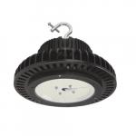 240W Round High Bay LED Light, Dimmable, 33600 lm, 120V-277V, 5000K