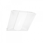 30W 2 x 4' LED Troffer w/ Central Diffuser, Dimmable, 4600 lm, 3500K