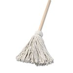 Deck 16 oz. Cotton Fiber Mop Head w/ Wooden Handle