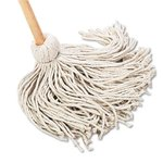 Deck 20 oz. Cotton Fiber Mop Head w/ Wooden Handle