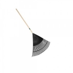"30"" Poly Lawn and Leaf Rake with Hardwood Handle"