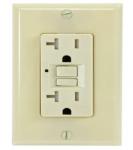 15 Amp GFCI Outlet, Tamper Resistant, Ivory