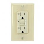20 Amp GFCI Outlet, Tamper Resistant, Ivory