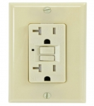 15 Amp GFCI Outlet, Tamper & Weather Resistant, Ivory