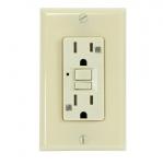 15 Amp GFCI Outlet, Tamper & Weather Resistant, Ivory