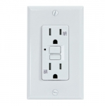 15 Amp GFCI Outlet, Tamper & Weather Resistant, White