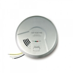 Photoelectric Smoke Detector, Hardwired w/ 9V Battery
