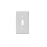 1-Gang Toggle Switch Wall Plate, Plastic, Standard, White