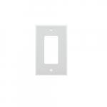 1-Gang Decorator Wall Plate, Plastic, Midi, White