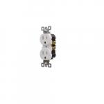 15 Amp Duplex Receptacle, Self Grounding, Tamper Resistant, White