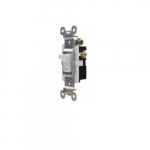 15 Amp Toggle Switch, Single Pole, 125V, White