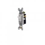 15 Amp Toggle Switch, 3-Way, 125V, White