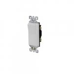 15 Amp Decorator Switch, Single Pole, 125V, White