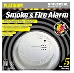 Photoelectric Smoke and Fire Alarm, 9V Battery Operated