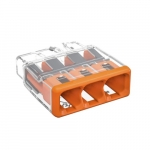 Compact Splicing Connector, 3-Conductor, Orange, Pack of 100