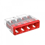 Compact Splicing Connector, 4-Conductor, Red, Pack of 80