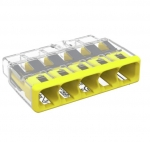 Compact Splicing Connector, 5-Conductor, Yellow, Pack of 60