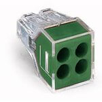 Green 4-Port Pushwire Connectors For Grounding & Bonding