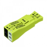 Luminaire Quick Disconnect, 2-Port Lumi-Nut Pushwire Connector