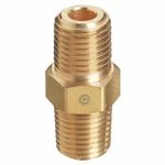 Pipe Thread Couplings, Adapter, 3,000 PSIG, Brass, 1/4 in (NPT)