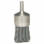 Hollow-End Knot Wire End Brush, Stainless Steel, 22,000 rpm