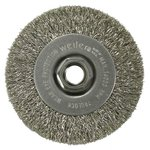 Narrow Face Crimped Wire Wheel, 4'' x .5'' Steel