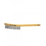 14-in Scratch Brush w/ Curved Wood Handle