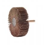 3-in Coated Abrasive Flap Wheel, 1/4-in Stem, 120 Grit, 23000 RPM