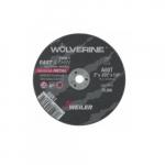 3-in Wolverine Flat Cutting Wheel, 60 Grit, Aluminum Oxide, Resin Bond