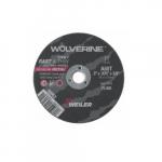 3-in Wolverine Flat Cutting Wheel, 0.4 Arbor Dia., 60 Grit, Aluminum Oxide, Resin Bond