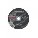 3-in Wolverine Flat Cutting Wheel, 36 Grit, Aluminum Oxide, Resin Bond