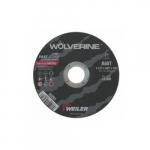 4.5-in Wolverine Flat Cutting Wheel, 60 Grit, T-Grade, Aluminum Oxide, Resin Bond