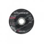 4.5-in Wolverine Depressed Center Cutting Wheel, 60 Grit, Aluminum Oxide, Resin Bond