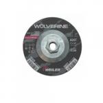 5-in Wolverine Depressed Center Combo Wheel, 24 Grit, Aluminum Oxide, Resin Bond