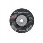 4.5-in Wolverine Depressed Center Combo Wheel, 24 Grit, Aluminum Oxide, Resin Bond