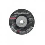 4.5-in Wolverine Depressed Center Grinding Wheel, 24 Grit, Aluminum Oxide, Resin Bond