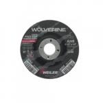 4.5-in Wolverine Grinding Wheel, 0.9-in Arbor Dia., 24 Grit, Aluminum Oxide, Resin Bond