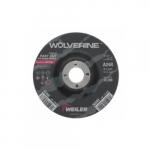 5-in Wolverine Depressed Center Grinding Wheel, 24 Grit, Aluminum Oxide, Resin Bond
