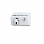 1800W Nova 5 Push Button Hand Dryer, 110V-120V, Aluminum, White
