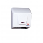 1700W Nova 1 Automatic Hand Dryer w/Universal Voltage, 110-240V, Aluminum, White