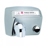2300W Push Button Hand Dryer, 115V, Stainless Steel, Brushed