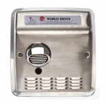 2300W Recessed Automatic Model XRA Hand Dryer, 115V, Stainless Steel, Brushed