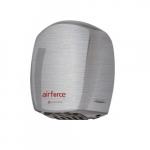 1100W AirForce Hand Dryer, Aluminum, Brushed Finish