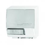 2000W Push-Button AirSpeed Hand Dryer, 110V-120V, Aluminum, White Body
