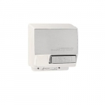 2000W Push-Button AirSpeed Hand Dryer, 208V-240V, Aluminum, White Body